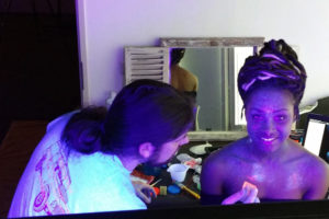 Blacklight Galaxy Bodypaint behind the scenes