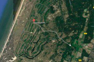 Kaart van Amsterdamse Waterleidingduinen, waar zitten de vossen?
