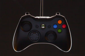 X-box controller productfoto rim light edge mask onbewerkt