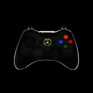 Productfotografie edge mask rim light x-box 360 controller rand van licht