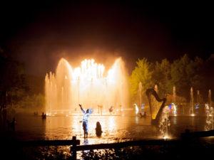 Puy du Fou Les Orgues de Feu, Waterorgel en fonteinen